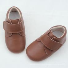 Новейшие детские неподдельные кожаные жесткие подошвы ботильоны сапоги ботинки