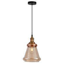 Modern amber Color Glass Lamp Shade Pendant Lamp