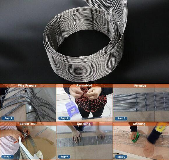 3 Inch Stainless Steel Ferrule Cable Mesh