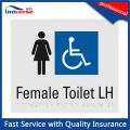 Hochwertige männliche / weibliche Plastik Braille Toilette Schild Platte