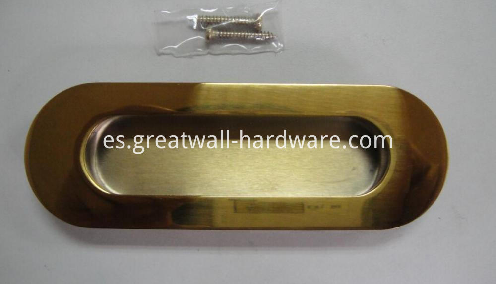 Recessed Oval Flush Handle