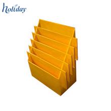 Estante del CD de mesa del color amarillo para la venta al por menor, estante de exhibición de los accesorios