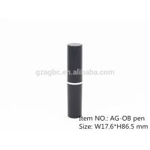Slender & moderne stylo en plastique rond rouge à lèvres Tube conteneur AG-OB-, taille de tasse 10,8 mm, couleur personnalisée