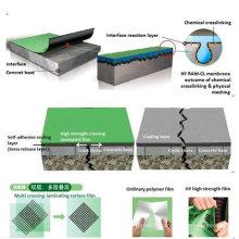 Membrane imperméable auto-adhésive de film de HDPE de haute résistance stratifiée par traverse (OIN)