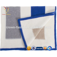Super Soft Luxury Intarsia Knitted Cashmere Warm Baby Blanket