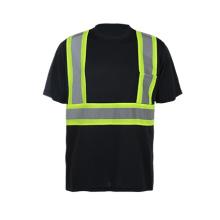 Camisa de manga corta de manga larga de alta visibilidad