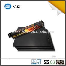 Free Sample PDA and LFGB certificate non-stick bbq grill mat ptfe bbq grill mat