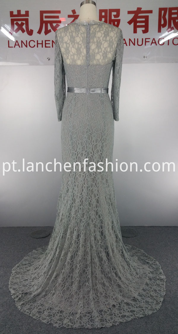 Evening Dress grey back