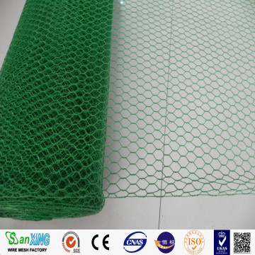 Pvc bersalut Hexagoanl Chicken Wire Netting