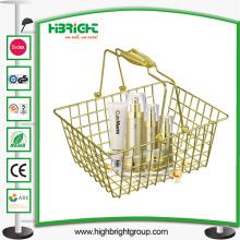 Supermarché cosmétique magasins Golden Wire Panier d'achat