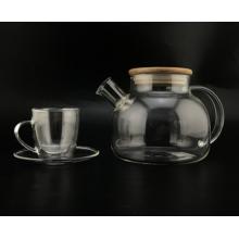 Clear Borosilicate Glass Teapot/Cup