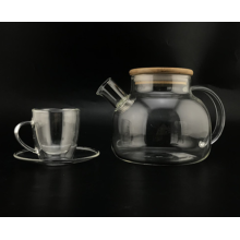 Clear Borosilicate Glass Teapot/Cup