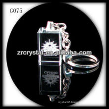 laser etched crystal keychain and blank crystal G075