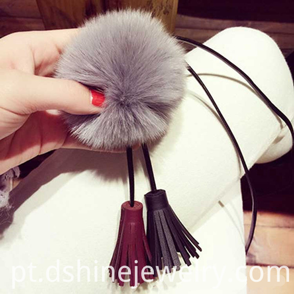 Fur Ball Necklace