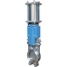 La Chine a fait la valve de porte de couteau pneumatique actionnée par industrie de haute qualité avec de bas prix