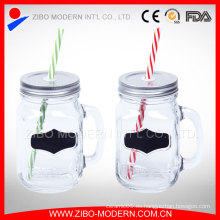 16oz Glass Mason Jar Personalizar al por mayor Mason Jar tapas