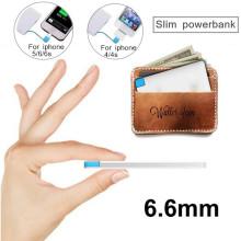 Ultra dünne Kreditkarte Powerbank Mini Portable Energien-Bank-Ladegerät 2600mAh