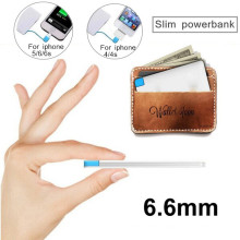 Ultra Thin Credit Card Powerbank Mini Portable Power Bank Charger 2600mAh