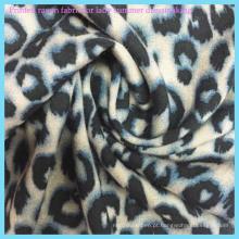 Tecido leve de raiom estampado de leopardo para roupas para mulheres sexy