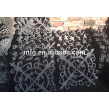 Gusseisen Garten Ornamente, Zaun Ornamente Eisen dekorative Komponenten für Zaun, Eisen-Casting-Panel
