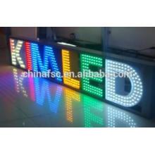 Personalizado hecho de acero inoxidable LED iluminado letra de canal
