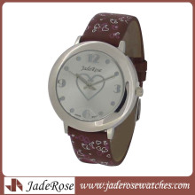 Cut Heart Shape Print Fashion Wrist Watch
