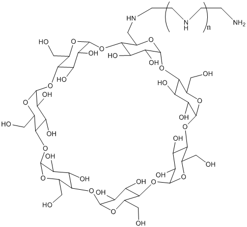 Polyethylene polyamine modified β-cyclodextrins