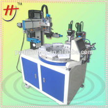 hot sale HS-260PME/8 High precise 8 station servo conveyor screen printing machine with drying system