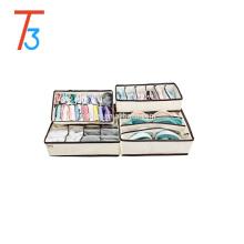 Net set of 4 bra storage boxes/underwear storage organizer/socks storage cases