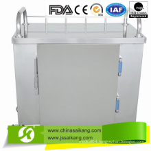 Stainless Steel Anaesthetic Treatment Hospital Trolley with Drawers (CE/FDA/ISO)