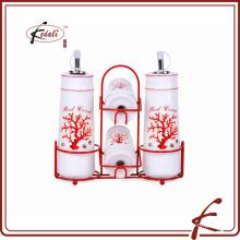 Keramiköl Essig Salz Pfeffer Set für Küche