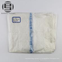 Прозрачный плоский мешок на крене для овощей