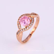 Xuping élégant design spécial anneau de fiançailles en zircon cubique rose