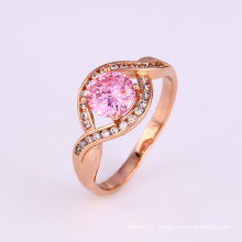 Xuping Elegant Special Design Pink Cubic Zircon Engagement Ring