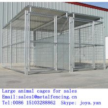 Outdoor used cages metal panel dog cages cheap pet cages large animal cages for sale