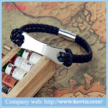 Fashion leather bracelet factory punk rock bracelet stainless steel bracelet