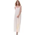 Kate Kasin Sexy Womens Summer Casual suelta correa de espagueti con cuello en V champagne vestido largo Maxi KK000700-3