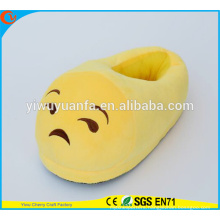 Hot Sell Novelty Design Sad Face Plush Emoji Slipper with Heel