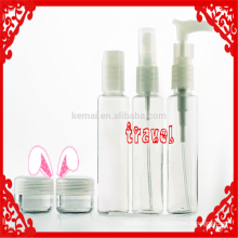 Комплект путешествия бутылка для косметический упаковывать бутылки 60ml дорожный набор Kittravel