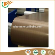 Tejido eléctrico inconductivo fibra de vidrio cinta ptfe tejido de poliéster revestido de teflón