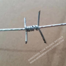 Galvanized / Stainless Steel Barbed Wire Fence
