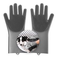 Pet Bathing Scrubber Gloves