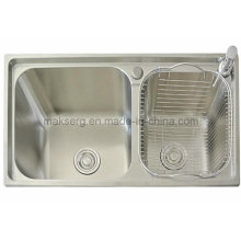 Stainless Steel Handmade Double Basins Kitchen Sink