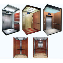 Machine roomless villa elevator with safety glass car wall
