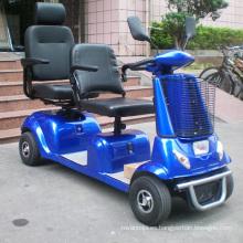 Scooter de movilidad de servicio pesado de dos asientos con protector (DL24800-4)