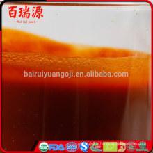 Jus de goji conventionnel et vitamines du jus de goji biologique huile de goji