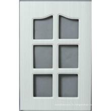 Porte de placard de cuisine de PVC (HLPVC-7)