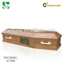 caixão de madeira de cremação enterro baratos JS-E098