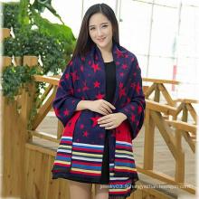 2015 Nouvelle conception hiver Lady étoilée mode écharpe