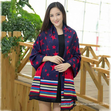 2015 New Design winter Lady star pattern fashion Scarf